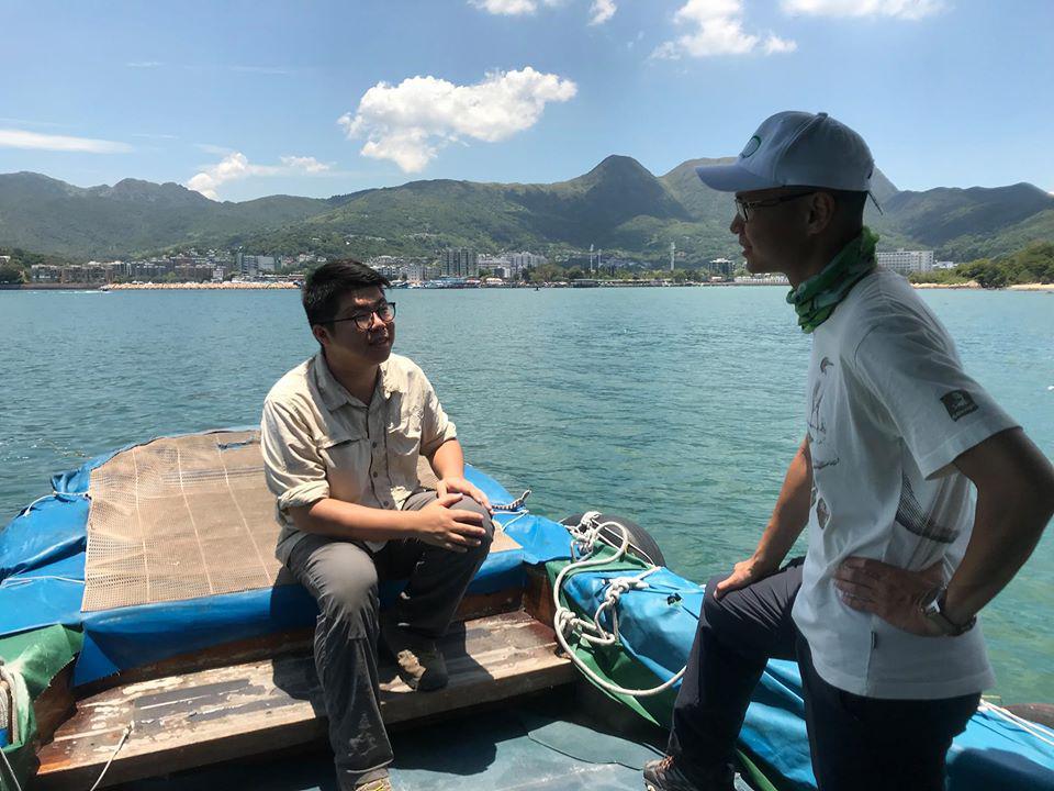 綠恒生態旅遊有限公司總經理-謝宇德 與 共生藻旅行社創辦人-黃啟翔